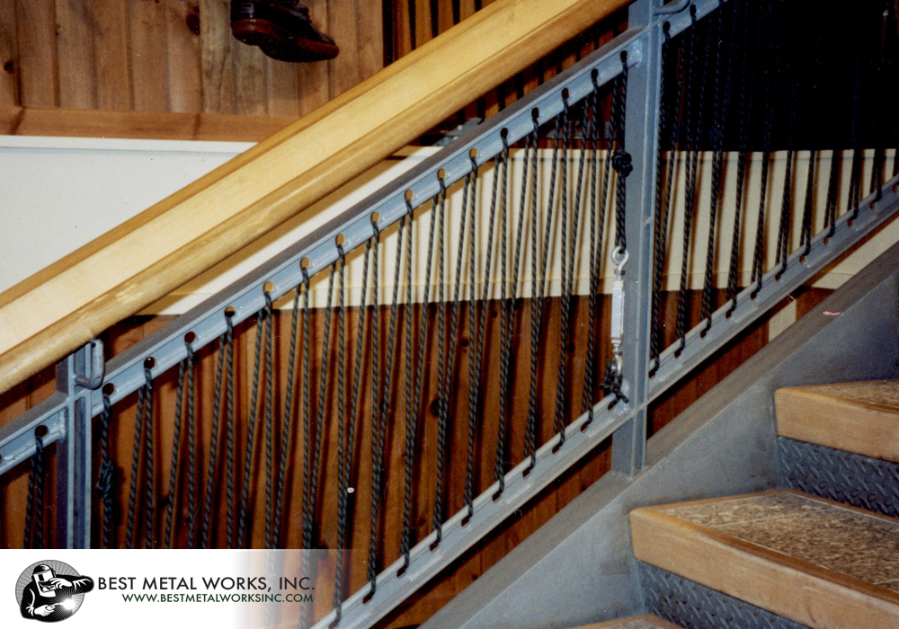 Custom Stairs and Railing for L.L. Bean.
